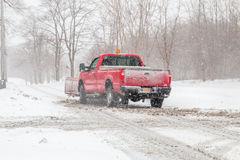 Snow-storm-pickup-truck